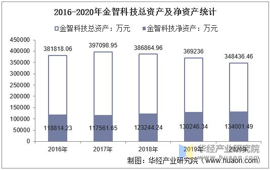 2016-2020年金智科技总资产及净资产统计