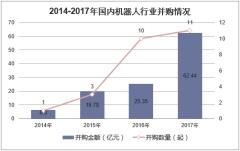 2014-2017年国内机器人行业并购情况