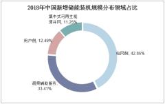 2018年中国新增储能装机规模分布领域占比