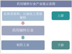 药用辅料行业产业链示意图
