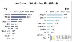 2019年1-6月奇瑞轿车分车型产销量排行