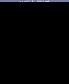 2018-2019年中国空气压缩机十大品牌