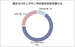 截至2019年上半年三种回报机制投资额占比