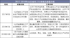 2017-2018年山东省化工行业相关政策分析