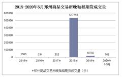 2020年1-5月郑州商品交易所晚籼稻期货成交量及成交金额统计
