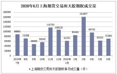 2020年1-6月上海期貨交易所天膠期權成交量及成交金額統計