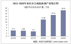 2015-2020年重庆市合成洗涤剂产量及月均产量对比分析