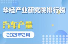 2021年02月汽车生产企业产量排行榜(TOP67):上海汽车集团股份有限公司汽车产量占比17.63%