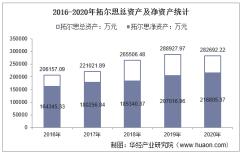 2016-2020年拓尔思(300229)总资产、总负债、营业收入、营业成本及净利润统计