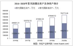 2016-2020年紫光国微(002049)总资产、总负债、营业收入、营业成本及净利润统计