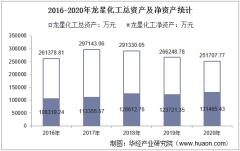 2016-2020年龙星化工(002442)总资产、总负债、营业收入、营业成本及净利润统计