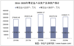 2016-2020年粤宏远A(000573)总资产、总负债、营业收入、营业成本及净利润统计