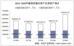 2016-2020年城投控股(600649)总资产、总负债、营业收入、营业成本及净利润统计