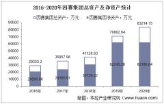 2016-2020年因赛集团(300781)总资产、总负债、营业收入、营业成本及净利润统计