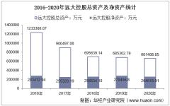 2016-2020年远大控股(000626)总资产、营业收入、营业成本、净利润及股本结构统计