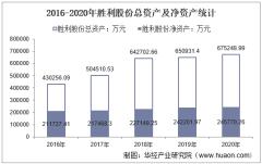2016-2020年胜利股份(000407)总资产、总负债、营业收入、营业成本及净利润统计