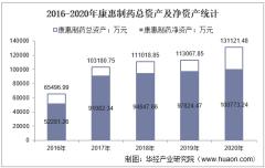 2016-2020年康惠制药(603139)总资产、总负债、营业收入、营业成本及净利润统计