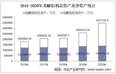 2016-2020年龙蟒佰利(002601)总资产、营业收入、营业成本、净利润及股本结构统计