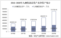 2016-2020年九洲集团(300040)总资产、营业收入、营业成本、净利润及每股收益统计