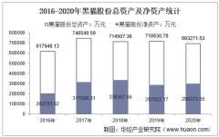 2016-2020年黑猫股份(002068)总资产、总负债、营业收入、营业成本及净利润统计