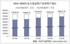2016-2020年北大荒(600598)总资产、营业收入、营业成本、净利润及股本结构统计