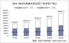 2016-2020年海波重科(300517)总资产、总负债、营业收入、营业成本及净利润统计