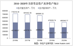 2016-2020年圣济堂(600227)总资产、营业收入、营业成本、净利润及每股收益统计