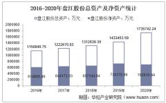 2016-2020年盘江股份(600395)总资产、总负债、营业收入、营业成本及净利润统计