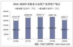 2016-2020年青海春天(600381)总资产、总负债、营业收入、营业成本及净利润统计