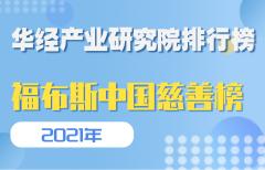 2021福布斯中国慈善榜TOP100:马云位居榜首