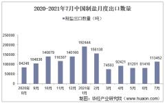 2021年7月中国制盐出口数量、出口金额及出口均价统计