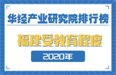 2020年福建省各地市受教育程度排名:厦门第一,人均受教育水平达高二水平