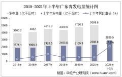 2021年上半年广东省发电量及发电结构统计分析