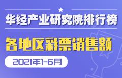 2021年1-6月全国各地区彩票销售额排行榜:11个省市超全国平均水平,仅有西藏呈负增长