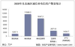 2020年东北地区通信业电信用户、电信业务及电信资产统计分析