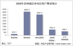 2020年贵州通信业电信用户、电信业务及电信资产统计分析