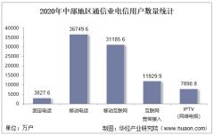2020年中部地区通信业电信用户、电信业务及电信资产统计分析