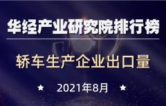 2021年8月基本型乘用车(轿车)生产企业出口量排行榜:特斯拉(上海)遥遥领先,占总出口量的48.75%