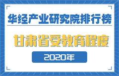 2020年甘肃省各市州受教育程度排名:三城15岁及以上人均受教育年限在10年以上