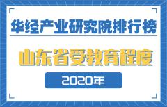 2020年山东省各地级市受教育程度排名:济南第一